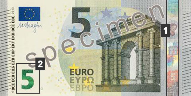 Comment reconna tre les faux billets de 5 euros manuellement - Comment reconnaitre des couverts en argent ...