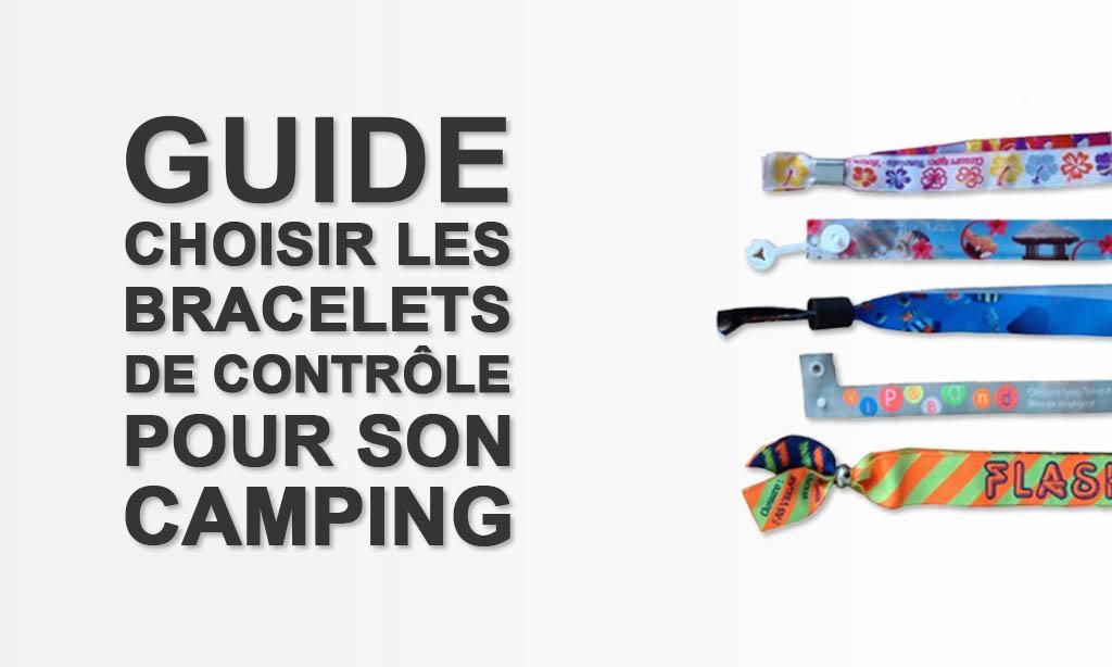 Bracelet de controle et d'identification pour camping