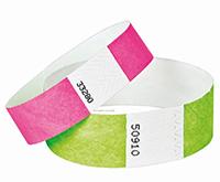 bracelet-evenementiel-tyvek-vert-rose