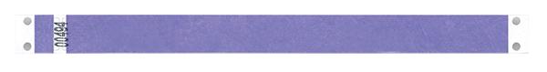 Bracelet événementiel en tyvek de 19mm de large et de couleur bleu.
