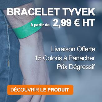 Achat de bracelets tyvek pas cher sur le site de Loisirs Equipements