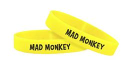 Bracelet en silicone avec personnalisation imprimé et couleur jaune