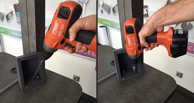 Fixation du haut parleur pour l'interphone de guichet côté client