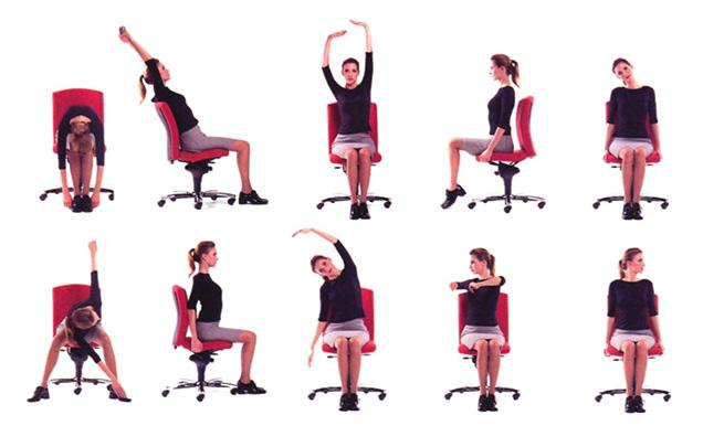 Quelques exercices en position assise pour éviter les troubles musculo squelettiques