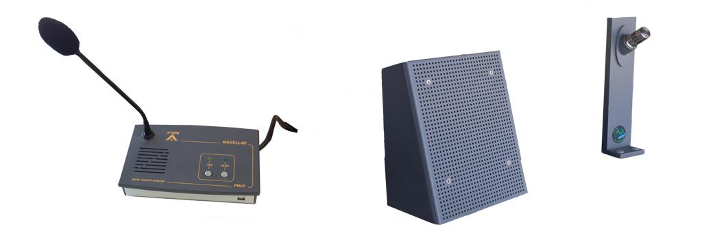 Pack d'interphonie pmuc installé pour remplacer les micro-casques.