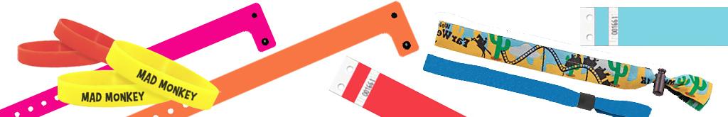 Différentes gammes de bracelets évènementiels : Tyvek, Tissu, Silicone ou Vinyle !