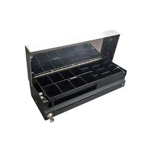 """Tiroir-caisse conçu avec une ouverture """"Flip top"""", verticale."""